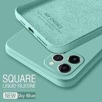 Mode Gerade Kante Flüssige Weichen Silikon Telefon Fall Für Oppo Realme C12 C20 X7 7i C11 C15 5 7 6 8 Pro Ultra 5G 4G 2021 Abdeckung
