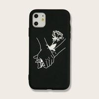 블랙 아이폰 케이스에 Sika 사슴 동물 7 p/xr/x/xs/11/11 프로에 적합 최대 케이스 쉘 TPU 보호 커버 소프트 쉘 전화 cas