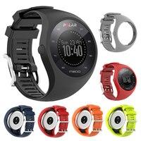 폴라 M200 GPS 스포츠 스마트 워치 용 실리콘 스트랩, 손목 밴드 액세서리 폴라 M200 용 교체 시계 밴드