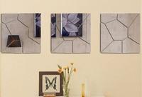 홈 장식에 대 한 7Pcs DIY 3D 깃털 거울 벽 스티커 룸 전사 술 벽화 아트 홈 장식 브랜드의 새로운 디자인