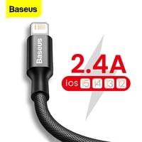 Baseus USB Kabel Für iPhone 13 12 11 Pro Max X XR XS 8 7 6s 6 iPad Schnelle daten Lade Ladegerät USB Draht Schnur Handy Kabel
