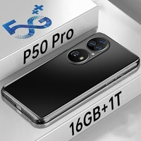 Smartphone HUAWE P50 Pro 5G 8000mAh Gesicht ID 16G + 1T Globale Version 7,3 ''Android 11 10 core-Handy 4G Netzwerk Handy