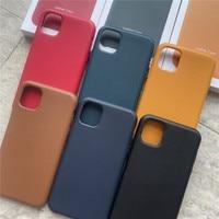 Iphone用本革ケース12プロマックス11電話ケースiphone 11プロマックス12ミニ高級本革カバーとボックス