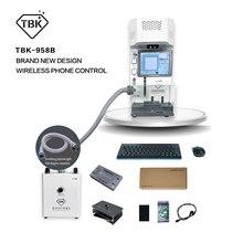 TBK-958B 958M 뒤 표지 분리기 자동 레이저 분리 기계 아이폰 8-12pro 후면 유리 제거 로고 마킹 Newes
