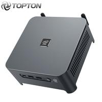 Topton Leistungsstarke 10Th Gen Mini Desktop Computer Xeon W-10885M 8 Kerne 16 Themen Gaming PC HDMI DP und Typ-C 3Display Mini PC