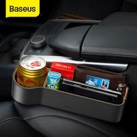 Baseus אוניברסלי עור רכב ארגונית סיאט Auto אחסון תיבת עבור כיס ארגונית ארנק סיגריות מפתחות מחזיקי טלפון