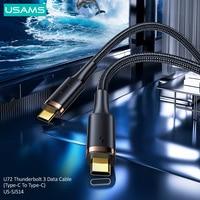 USAMS 100W Thunderbolt 3 Datenkabel USB C zu USB Typ C Kabel PD 5A Schnelle Lade Telefon Ladegerät für Huawei Samsung Xiaomi iPad