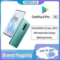 Globale Rom Oneplus 8 Pro 5G Smartphone Snapdragon 865 SmartPhone 48MP Hinten Kamera 4510 mAh 12GB RAM 256GB ROM Handy NFC