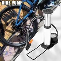 X Autohaux נייד אופני משאבת 120Psi 160Psi אופניים צמיג משאבות רגל משאבת ערכת עם לחץ מד עבור כביש אופני הרים BMX MTB