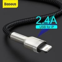 Baseus USB Kabel für iPhone 11 12 Pro Max Xs Xr X 2,4 EINE Schnelle Ladekabel für iPhone Kabel 7 SE 8 Plus Ladegerät für iPad air