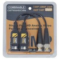 10 Pairs 8MP CCTV Coax Video Balun BNC Sender AHD/HD-CVI/TVI/CVBS Passive Twisted Pair Für kameras