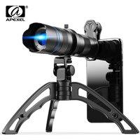 APEXEL HD Metall 20-40x zoom teleskop teleobjektiv monokulare telefon kamera objektiv + mini stativ für Samsung iPhone alle Smartphones