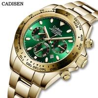 CADISEN 2021 Men Watch Automatic Mechanical Luxury Sapphire Glass 100m Waterproof Day Date Gold Stainless Steel Wrist Watch Men