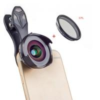 APEXEL Telefon Kamera Objektiv Kit 16mm 4k Weitwinkel Objektiv mit CPL Filter Universal HD Handy Objektiv für iPhone Xiaomi Huawei