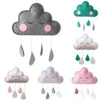 귀여운 북유럽 스타일 펠트 구름 얼굴 스타일 어린이 방 장식 장식품, 어린이 방 만화 장식 펜던트, 침실용