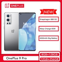 Globale ROM OnePlus 9 Pro 8GB 128GB Smartphone Snapdragon 888 5G 120Hz Flüssigkeit Display 2,0 Hasselblad 50MP Kamera 65T