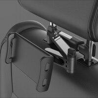 גמיש 360 תואר סיבוב רכב טלפון מחזיק רכב מושב אחורי אחורי כרית מחזיק עבור טבליות או טלפונים ניידים מפני 5 -11 אינץ
