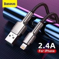 Baseus USB Kabel Für iPhone 11 12 pro max Xs Xr X SE 8 Schnelle Lade für iPhone Ladegerät USB kabel Daten Kabel Draht Kabel für iPad