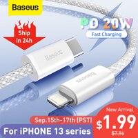 Baseus 20W PD USB C Kabel für iPhone 13 Pro Max Schnelle Lade USB C Kabel für iPhone 12 mini pro max Daten USB Typ C Kabel