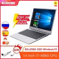 Alldocube i7Book 14 zoll IPS Intel i7 6660U Windows 10 8GB RAM 256GB ROM SSD Notebook laptop computer WIN10 PC