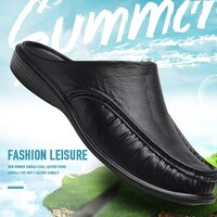 Men Loafers Slip On Casual Walking Shoes Designer Men Half Slippers Comfortable Soft Slippers Size 40-47