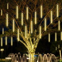 50CM 8 튜브 유성우 비가 떨어지는 비가 고드름 빛 야외 정원 휴일 크리스마스 트리 갈 랜드 문자열 빛