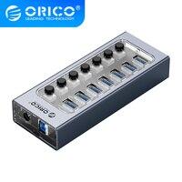 ORICO Industrielle USB 3,0 HUB 7/10/13/16 Aluminium + Transparent USB HUB 5Gbps übertragung rate Mit AUF/OFF Schalter, ORICO AT2U3