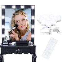Led 전구 할리우드 거울 조명 화장대 메이크업 욕실 드레싱 데스크 테이블