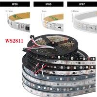 5m WS2811 LED אור רצועת 5050 30/48/60 נוריות/m, ws2811 ic 10/16/20 pcs/מטר, DC12V RGB מלא צבע LED הרצועה