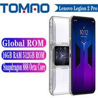 Offizielle Globale ROM Lenovo Legion 2 Pro 5G Smartphone 144Hz Snapdragon 888 5500mAh Große Batterie 90W 64MP Kameras Android 11 NFC