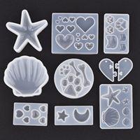 Moule en résine époxy, cristal de Silicone, coquille de mer, étoile de mer, outil de fabrication de bijoux, artisanat fait à la main, décoration de la maison