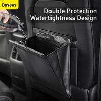 Baseus רכב אחסון סלי רכב מושב אחורי ארגונית עור מפוצל מושב אחורי עם אשפה תיק רכב ארגונית אביזרי פנים