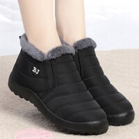 Women Boots Lightweight Winter Shoes Women Ankle Botas Mujer Waterpoor Snow Boots Female Slip on Casual Shoe Plush Footwear Male