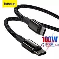 Baseus 100W USB C Zu USB Typ C Kabel für Huawei Quick Charge 4,0 Typ C Kabel für MacBook xiaomi Samsung Daten Draht USB C Kabel