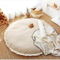 INS Nordic Children Circular Play Pad Baby Crawling Mat Living Room Simple Floor Carpet Bedroom Blanket Kids Room Decor Mat