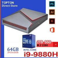 Mini PC i9 Gamer i7 Windows 10 Computer Minipc Gaming Desktop Intel Core i9 9980HK 9880H 8 Core GTX 1650 M.2 SSD Dual DDR4