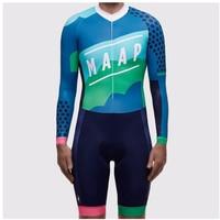 MAAP 2021 גברים של pro צוות קיץ skinsuit ארוך שרוול רכיבה על אופניים ג 'רזי סט ciclismo ropa hombre מכנסיים אופנוענים טריאתלון MTB בגדים
