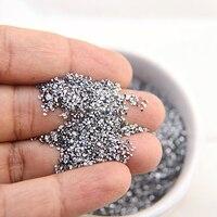 미니 지르콘 유리 라인석 반짝이 마이크로 다이아몬드 작은 크리스탈 스톤 네일 아트 장식, 1.2mm 1440 개, 크리스탈 클레이