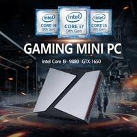 TOP Desktop computer NVIDIA GeForce GTX 1650 Intel Core I9 9880H i7 9750H Gaming Mini PC 4G HDMI DP Windows10 Pro AC wifi BT 4,0