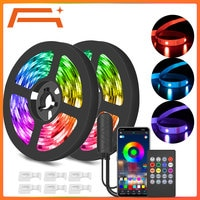 LED רצועת תאורה, App שליטה, סנכרון מוסיקה, RGB רצועת אורות עם צבע שינוי, SMD 5050 תאורת Dimmable עבור עבור בית