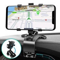 ANMONE רכב לוח מחוונים סוגר Rearview מראה מגן שמש נייד טלפון רכב מחזיק פי גריפ GPS ניווט Smartphone אוטומטי עומד