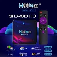 H96 Max V11 TV Box STB Android 11 RK3318 Bluetooth-kompatibel 4,0 Dual Band 2,4 GHz 5GHz WiFi smart TV Set-Top-Box Media Player