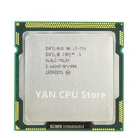 Feer verschiffen Original Intel Core i5 750 Prozessor 2,66 GHz 8MB Cache LGA 1156 Desktop I5-750 CPU getestet 100% arbeits