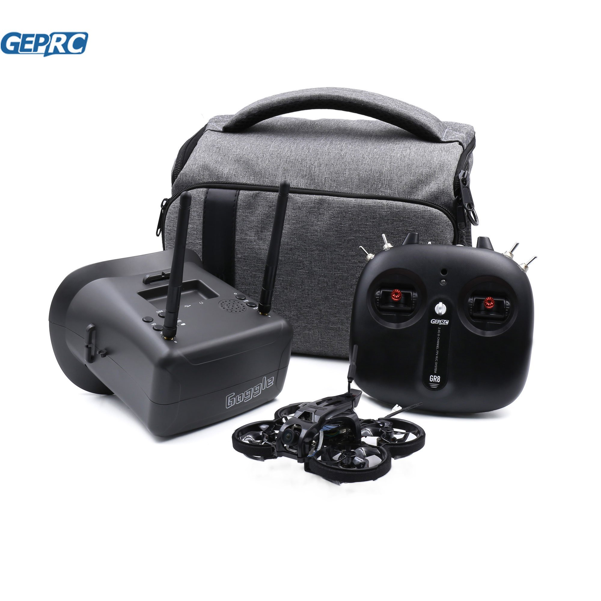 GEPRC-Dron TinyGO 4K FPV Whoop RTF con Caddx laris 4K 60fps GR1102 10000Kv GR8, mando a distancia, gafas FPV de 4,3 pulgadas