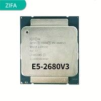 Verwendet Intel Xeon E5 2680 V3 Prozessor SR1XP 2,5 Ghz 12 Core 30MB Sockel LGA 2011-3 CPU e5 2680V3