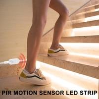 Motion Sensor Night Light LED PIR Closet Light Strip USB Wireless Cabinet Led Lamp Tape 2835 SMD Wardrobe Stairs Led Lighting