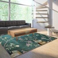 Reese Velvet Lint Free Soft Carpets Living Room Traditional Chinese Lotus Osmanthus Kumquat Area Rugs Bedroom Anti Slip Washable