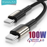 KUULAA 100W USB C zu USB Typ C Kabel USBC PD 5A Schnelle Ladegerät Kabel USB-C Typ-c kabel für Samsung S20 MacBook iPad Huawei Xiaomi