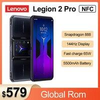 Globale Rom Lenovo Legion 2 Pro 5G Smartphone 16GB RAM 512GB ROM Snapdragon 888 Android 11 144hz AMOLED Display Handy