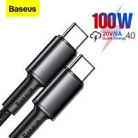 Baseus 100W USB C Zu USB Typ C Kabel 5A PD Schnelle Lade Ladegerät Kabel USB-C Typ-C kabel Für Xiaomi Samsung Huawei Macbook iPad